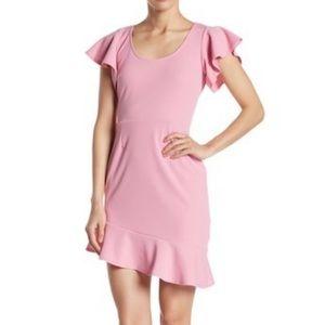 Vanity Room Flutter Sleeve Dress